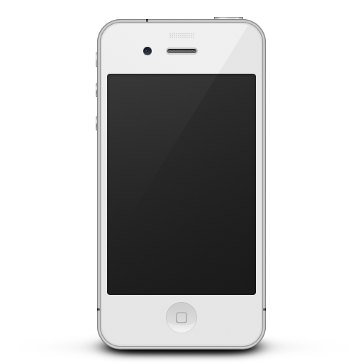 white iphone 4 png
